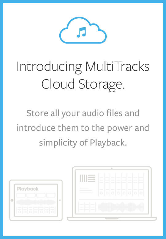 MultiTracks Cloud Storage